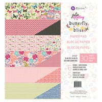 Prima - Julie Nutting - Butterfly Bliss Collection - 12 x 12 Paper Pad - Loving Life