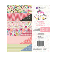 Prima - Julie Nutting - Butterfly Bliss Collection - 6 x 6 Paper Pad - Hello Beautiful