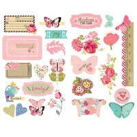 Prima - Julie Nutting - Butterfly Bliss Collection - Chipboard Stickers