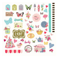 Prima - Julie Nutting - Butterfly Bliss Collection - Ephemera