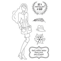 Prima - Julie Nutting - Cling Mounted Stamps - Mixed Media Doll - Jessi