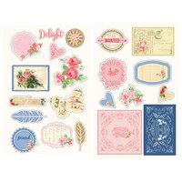 Prima - Julie Nutting - Frayed Denim Collection - Chipboard Stickers