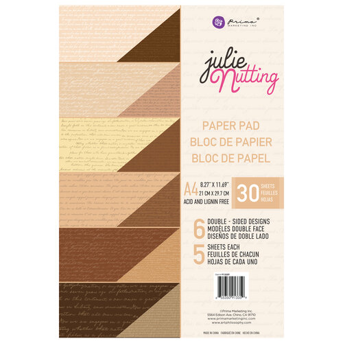 Prima - Julie Nutting - Frayed Denim Collection - A4 Paper Pad - Skin Tones