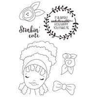 Prima - Julie Nutting - Solecito Collection - Cling Mounted Stamps - Mixed Media Doll - Jamila