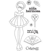 Prima - Julie Nutting - Solecito Collection - Cling Mounted Stamps - Mixed Media Doll - Mija