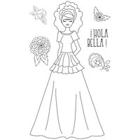 Prima - Julie Nutting - Solecito Collection - Cling Mounted Stamps - Mixed Media Doll - Milagros