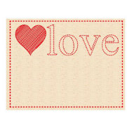 Prima - Donna Downey Collection - Embroidered Canvas Tabs - 2 Pieces - Love