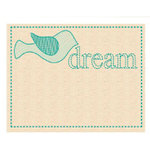 Prima - Donna Downey Collection - Embroidered Canvas Tabs - 2 Pieces - Dream