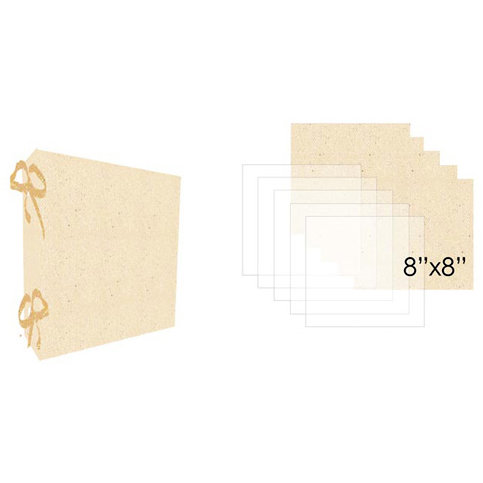 Prima - Donna Downey Collection - Fabric Canvas Album - 10.25 x 9.25