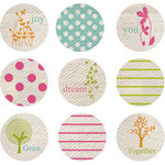 Prima - Donna Downey Collection - Screenprinted Canvas Buttons