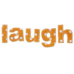 Prima - Donna Downey Collection - Fabric Stitched Words - Laugh, CLEARANCE