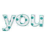 Prima - Donna Downey Collection - Fabric Stitched Words - You, CLEARANCE