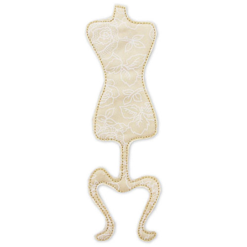 Prima - Donna Downey Collection - Fabric Stitched Shapes - Dress Form