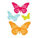 Prima - Donna Downey Collection - Flocked Iron Ons - Butterflies, CLEARANCE