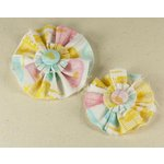 Prima - Donna Downey Collection - Screenprinted Canvas Flowers - Pastel, CLEARANCE