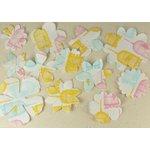 Prima - Donna Downey Collection - Screenprinted Canvas Petals - Pastel