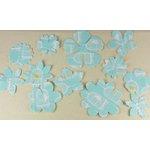 Prima - Donna Downey Collection - Screenprinted Canvas Petals - Blue