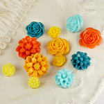 Prima - Cabachon Collection - Donna Downey - Sculpture Resin Flowers - Mix 1