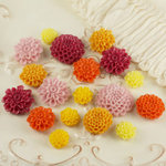 Prima - Cabachon Collection - Donna Downey - Sculpture Resin Flowers - Mix 6