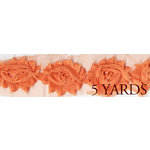 Prima - Donna Downey Collection - Rose Trim - Orange - 5 Yards
