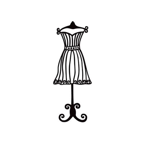 Prima - Donna Downey Collection - Foam Stamps - Dress Form