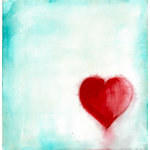 Prima - Donna Downey Collection - 12 x 12 Screenprint Canvas Paper - Heart