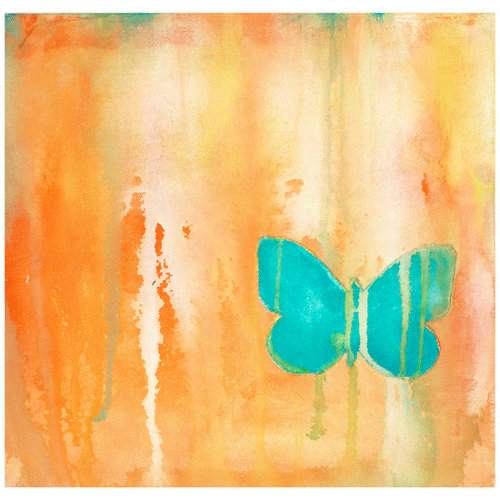 Prima - Donna Downey Collection - 12 x 12 Screenprint Canvas Paper - Single Butterfly