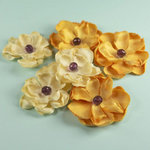 Prima - Elle Collection - Donna Downey - Flower Embellishments - Yellow