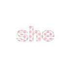 Prima - Donna Downey Collection - Fabric Stitched Words - She