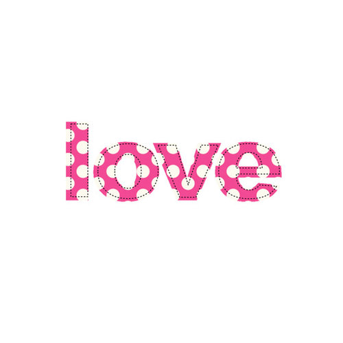 Prima - Donna Downey Collection - Fabric Stitched Words - Love