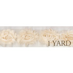 Prima - Donna Downey Collection - Rose Trim - Natural - 1 Yard