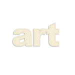 Prima - Donna Downey Collection - Fabric Stitched Paintable Words - Art