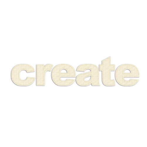 Prima - Donna Downey Collection - Fabric Stitched Paintable Words - Create