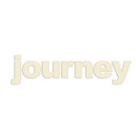 Prima - Donna Downey Collection - Fabric Stitched Paintable Words - Journey