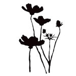 Prima - Poppies and Peonies Collection - Donna Downey - Foam Stamps - Poppy Branch