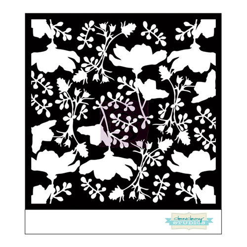Prima - Poppies and Peonies Collection - Donna Downey - Stencils Mask Set - 6 x 6 - Mix 3