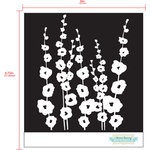 Prima - Poppies and Peonies Collection - Donna Downey - Stencils Mask Set - 12 x 12 - Mix 5