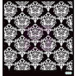 Prima - Poppies and Peonies Collection - Donna Downey - Stencils Mask Set - 6 x 6 - Damask