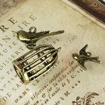 Prima - Vintage Trinkets Collection - Metal Embellishments - Birds
