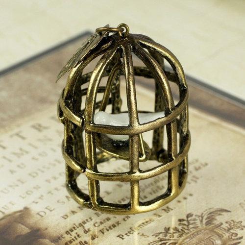 Prima - Vintage Trinkets Collection - Metal Embellishments - Bird Cage