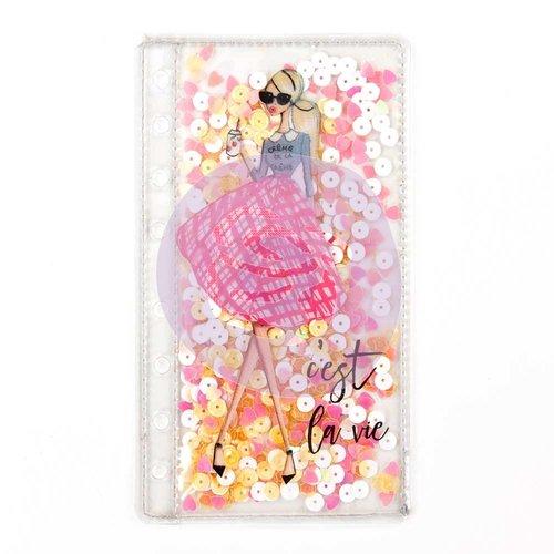 Prima - My Prima Planner Collection - Josefina Planner Shaker Pocket - Cest La Vie