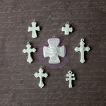 Prima - Archival Cast Collection - Relics and Artifacts - Plaster Embellishments - Crosse Icons