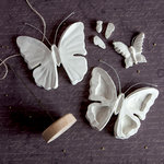 Prima - Relics and Artifacts - Matte Resin Craft Blanks - Butterflies
