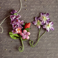 Prima - Relics and Artifacts - Flower Embellishments - Blushing Bouquet