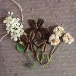 Prima - Relics and Artifacts - Flower Embellishments - Coco Bean Corsage