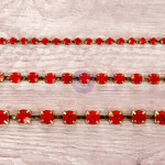 Prima - Relics and Artifacts - Rhinestone Chain Pack - Ruby