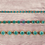 Prima - Relics and Artifacts - Rhinestone Chain Pack - Aquamarine