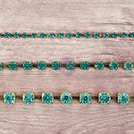 Prima - Relics and Artifacts - Rhinestone Chain Pack - Aquamarine