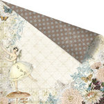 Prima - Fairy Belle Collection - 12 x 12 Double Sided Paper - En Pointe