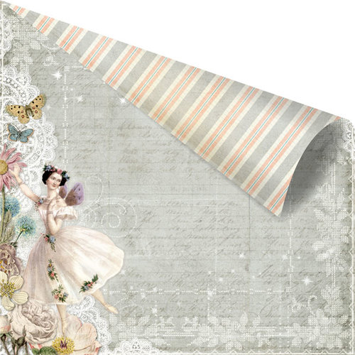Prima - Fairy Belle Collection - 12 x 12 Double Sided Paper - Firefly